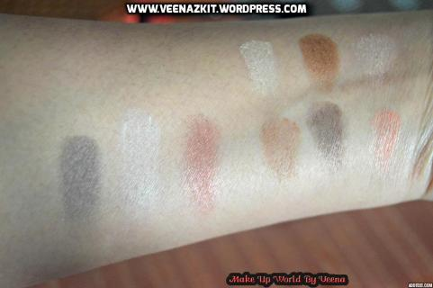 Swatches -NYX Love in Paris Eyeshadow Palette