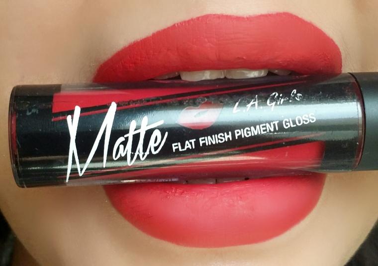 LA girl matte lip gloss in frisky