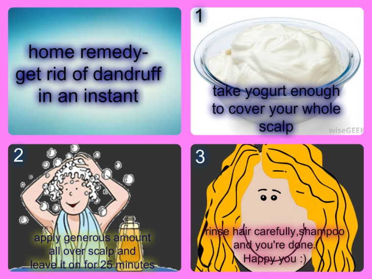 get rid of dandruff in an instant