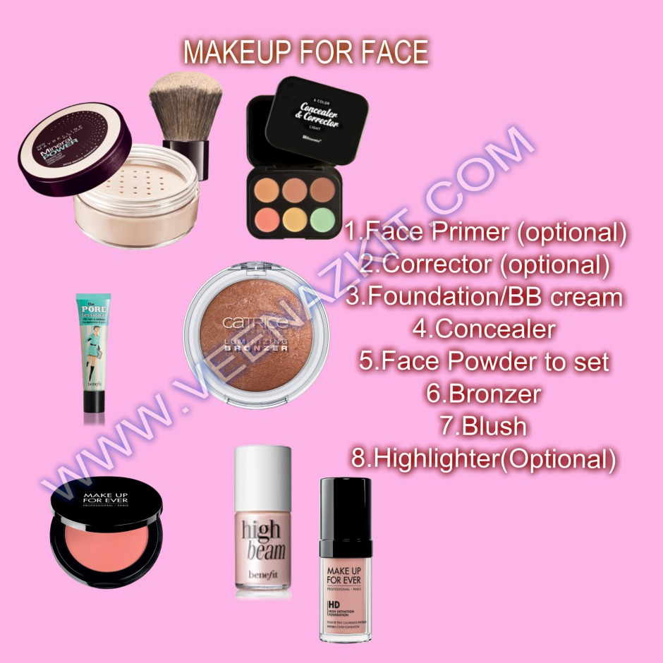 How To Apply Makeup Step By Step Beginners Veenaz Kit