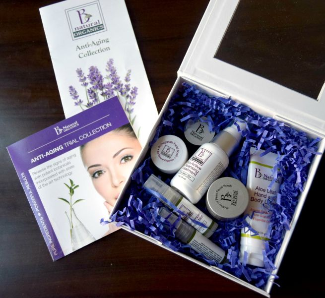 B Natural Organics Anti Aging Skincare Collection