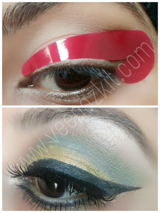 Quick eyeliner stickies stencil