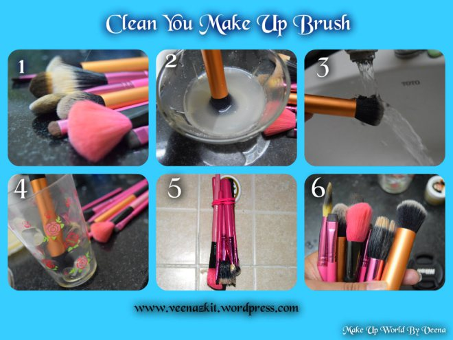 MAKE UP BRUSH HYGEINE